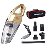 EFORCAR Cordless Car Vacuum Cleaner, Dust Buster with 12V 2200mAh Rechargeable Battery, 3KPA Powerful Suction Portable Hand Held Vacuum Cleaner with Carry Bag