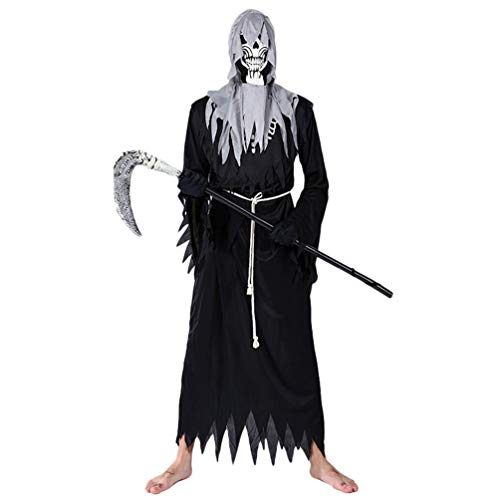 YuanDian Disfraces de Halloween Maquillaje Diablo De Terror Parca Disfras Faciles Trajes...