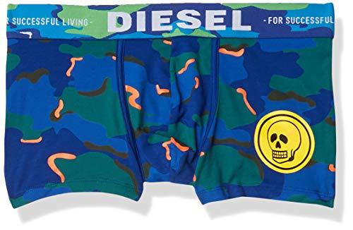Diesel Herren UMBX-Damien Boxer-Shorts Slip, blau Camouflage, Large