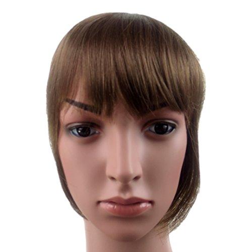 415 VANESSA GREY Toutes les couleurs disponibles, Pince Cheveux Super Frange Vraiment Naturelle Marron Moyen