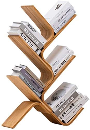 DaPengNB Organizador de Escritorio de Almacenamiento, estantería de bambú Natural, Estante Multiusos para Suministros de Oficina, Organizador 3/4 / 5 / 6Tier para Libros ( Color : 5 Tier )