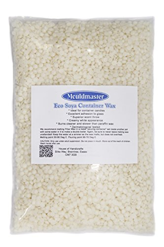 Mouldmaster Gips poeder Soja container kaars was pellets 2 kg, crème/Off White