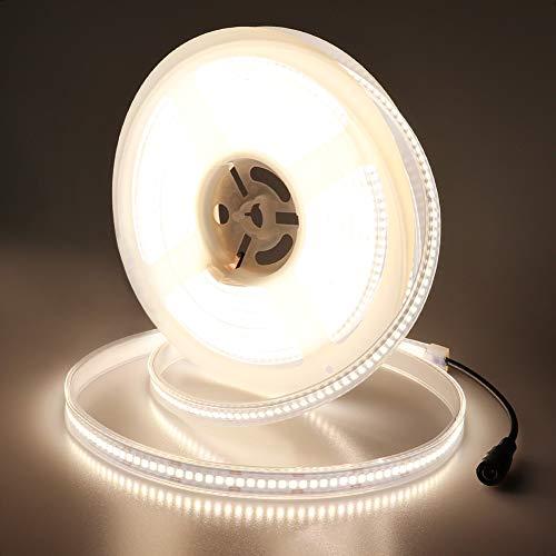 JOYLIT 7800lm Ultra Bright LED Strip Lights 24V, UL Listed 6000K Daylight White Light Strips IP67 Waterproof, 120W 2835 SMD 1200LEDs/16.4ft LED Tape Lights Outdoor Lighting Project