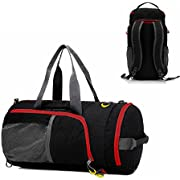 Laptop Backpack with USB Port, UBaymax 17'' Anti-theft Waterproof Canvas Travel Rucksack for Men School Travel Hiking (black)