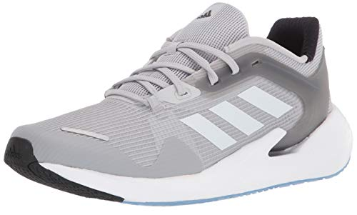 adidas Men's Alphatorsion Running Shoe, Grey/White/Grey, 10.5