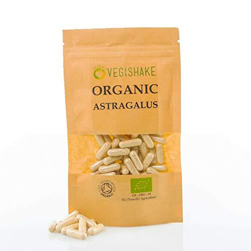 Organic Astragalus HPMC Capsules 1000mg Energy Tonics Night Sweats Digestion Diarrhea Wellness Supplements Vegan Halal Kosher (90 Capsules)