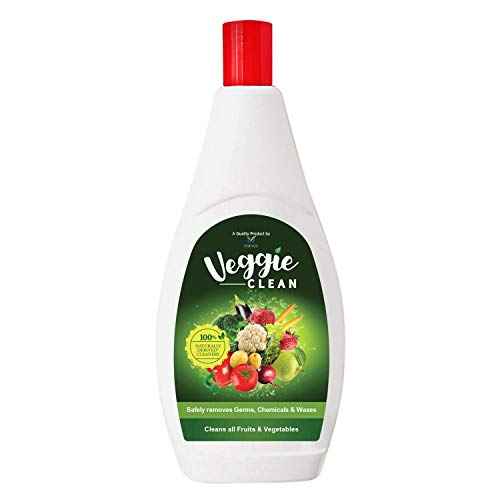 Veggie Clean, Fruits and Vegetables Washing Liquid, Removes Germs, Chemicals, Waxes, No Soap, 100% Naturally Derived Cleaner, 400 ml