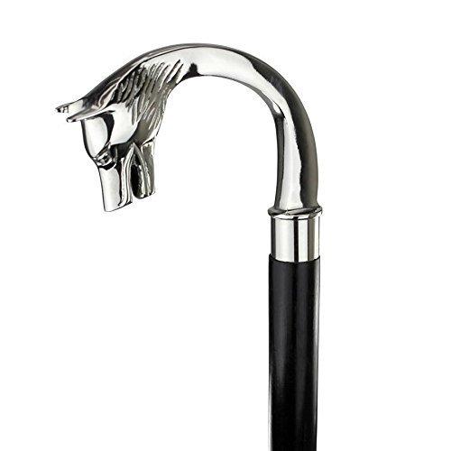 Safa Nautischer Gehstock, Design: Wolfskopf mit Messinggriff, Vintage-Stil, viktorianisches Design