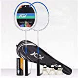 100% de fibra de carbono de alta tensión completa raquetas de bádminton cadena, Profesional de diseño competencia eje de la raqueta de bádminton, bádminton bolsa de grafito ligero individual raqueta d