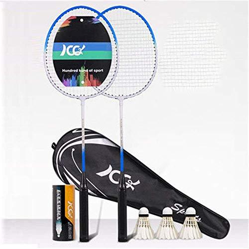 Xiaoyue 100{da7d5f1babb349016e455e227e971dae0ed56682eaf6d5fe4558c8daab226fb8} Vollcarbonfaser-Hochspannungs Schnur Badmintonschläger, Profi-Wettbewerb Design Welle Badmintonschläger, Leicht Graphite Einzelbadmintonschläger Badmintontasche. lalay (Color : Blue)