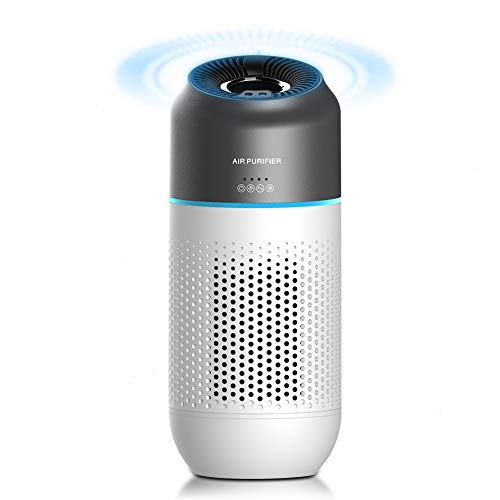 Car Air Purifier, Apark True HEPA with 4-Stage Filtration Air Cleaner for Car & Office, Travel, Eliminates Smoke, Dust, Pollen, Pet Dander,USB Power with Negative Ion Portable Home Air Purifier