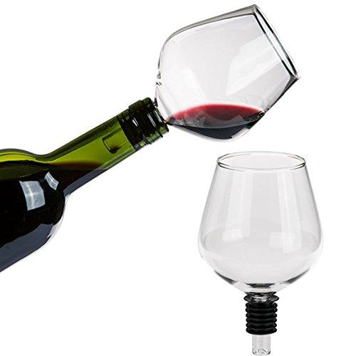Bada Bing Flaschenaufsatz Für Weinflaschen Aus Glas Mit Silikondichtung Weinglas Aufsatz Flaschenaufsatz Wein Stilvoll aus der Flasche Trinken 79