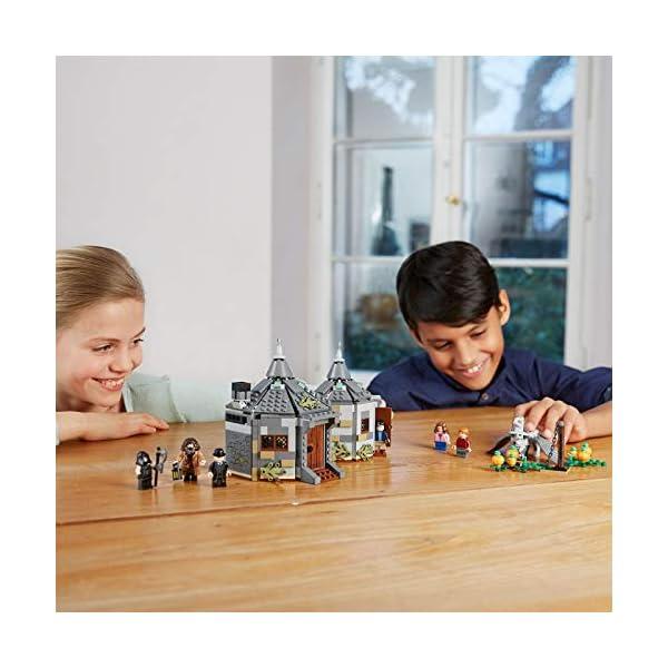LEGO Harry Potter - Cabaña de Hagrid Rescate de Buckbeak, Juguete de Construcción con Hipogrifo, Incluye Minifiguras de Harry, Ron y Hermione (75947)