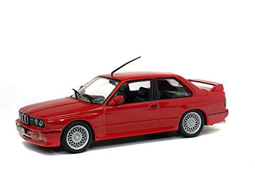 Solido S4304200 421436510-1:43 BMW M3 E30 - Maqueta de Coche, Color Rojo