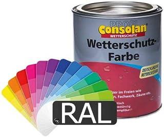 Consolan Profi Wetterschutzfarbe RAL-Farben 1l - Holzfarbe Holzschutzfarbe