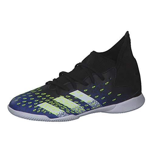 adidas Predator Freak .3 IN J, Zapatillas de fútbol, Noir Blanc Bleu Royal, 36 EU