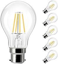 Yaeer B22 Bayonet LED Filament Bulbs 40W Equivalent, 4W A60 Light Bulb, Warm White 2700K, 400Lm, 360 Degree Beam Angle, No...
