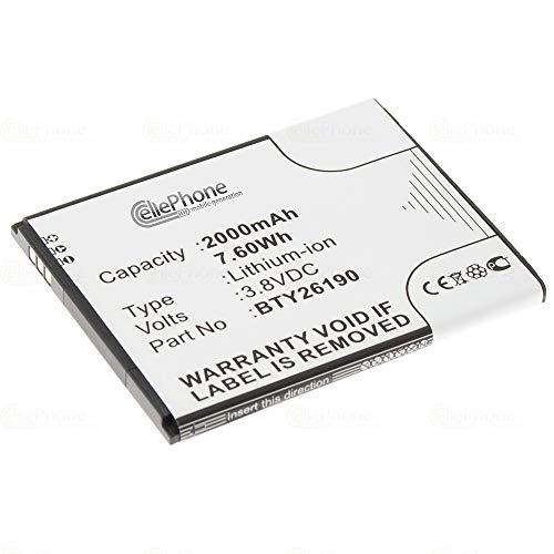 cellePhone Akku Li-Ion kompatibel mit Elson Mobistel Cynus T8 / F6 (Ersatz für BTY26190)