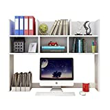 Escritorio Almacenamiento Wood Desktop Bookshelf Computer Monitor Soporte Monitor Organizador Almacenamiento Pantalla Estantería Estantería Encimera Librería para el hogar Oficina Decoración Libros
