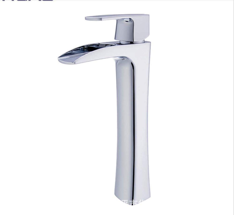 BadinsGrößetionen Waschtischarmaturen Küchenarmaturen Chrome Integrierte Einlochmontage Heien Und Kalten Wasserhahn Bad Wasserfall Waschbecken Wasserhahn Waschbecken Wasserhahn Einzigen Handgriff