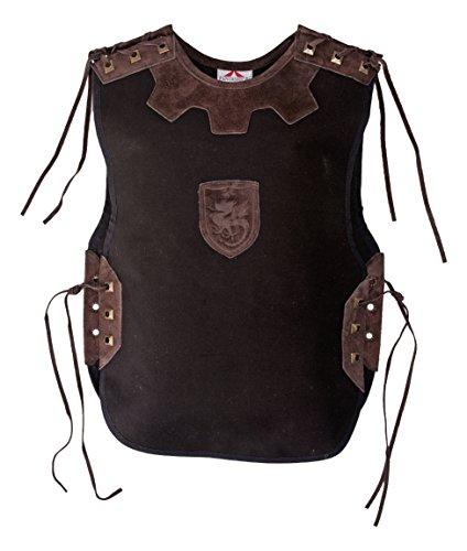 Fantashion H 22 Kostüme für Kinder, Ritterhemd Tristan, schwarz