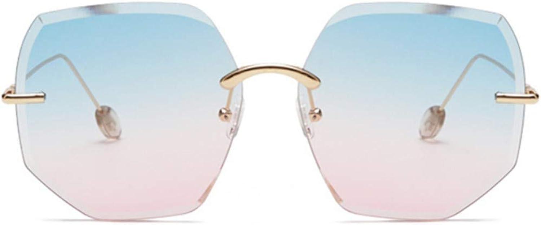 Fuqiuwei Sonnenbrillen Simple And Versatile Personality Retro Sunglasses Female Round Face Big Box Retro Sunglasses Female Personality