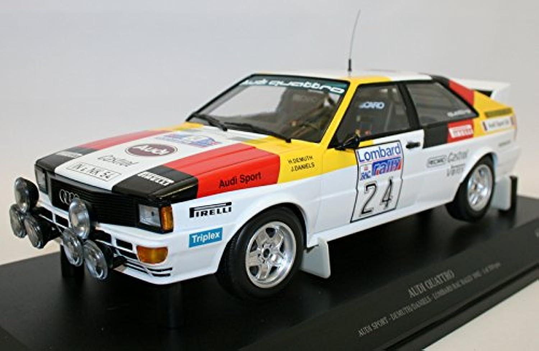 barato en alta calidad Minichamps Audi Quattro Lombard RAC Rally Rally Rally 1982 Escala 1 18, 155821124, Color blancoo Rojo Amarillo Negro  online barato