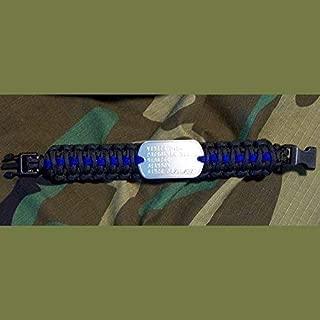 King Cobra 550 Paracord Genuine Military Dog Tag Bracelet