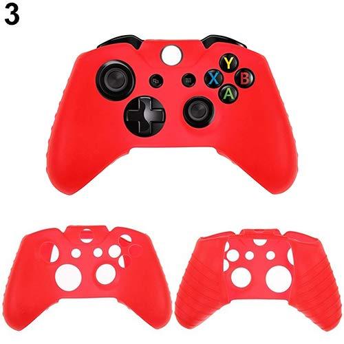 NAttnJf San Valentino Regalo Fashion Game Controller Silicone Gel Custodia Skin per Microsoft Xbox One - Red