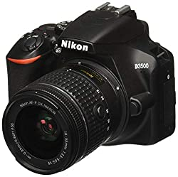 Nikon D3500 on white background - - Clicking this image will take you to the Amazon sales page for the product