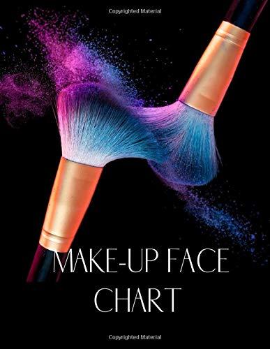 MAKE-UP FACE CHART: : A Blank Make-up Workbook for Make-up Artists