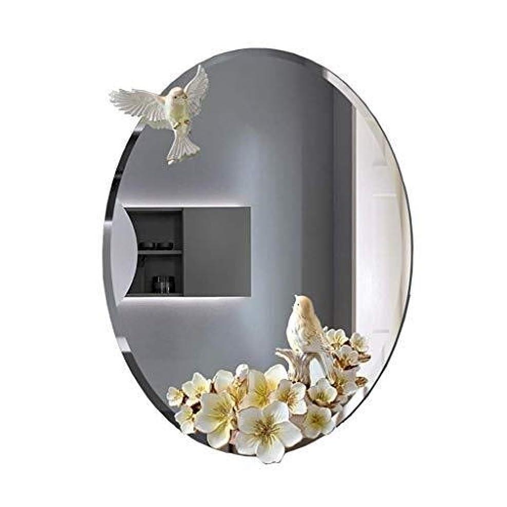 申し込む鳴り響く市民浴室の壁鏡、鏡の形をした鳥 - 楕円形の壁鏡 - 防水と霧のない鏡 - 45x60cm