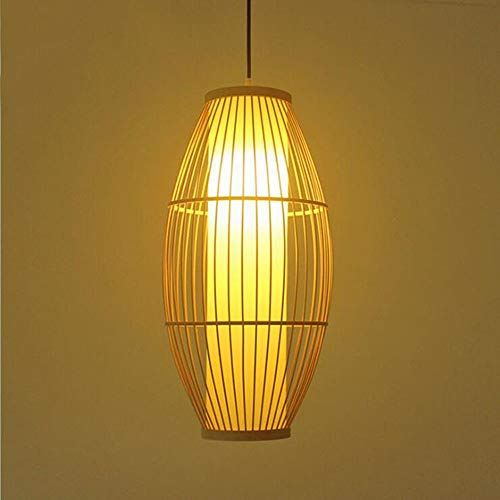 Libuty New Chinese Style Bamboo Chandelier Japanese Restaurant Chalou Inn Room Ideas Retro Pendant Light Fixtures Hotel Bedroom Kitchen Wicker Rattan