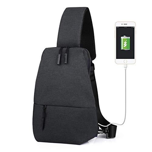 Adesign Versatile Canvas Sling Bag/Urban Travel Backpack, Grey | Wear Over Shoulder or Crossbody for Men & Women,Black