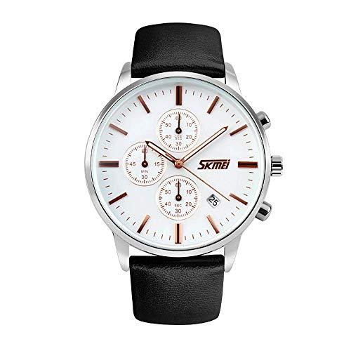 AZPINGPAN Reloj de Cuarzo para Hombre de Tendencia de Moda, Relojes para Exteriores para Hombre a Prueba de Agua, Relojes analógicos de Lujo Sencillos y discretos, Reloj de Pulsera Militar de Ocio