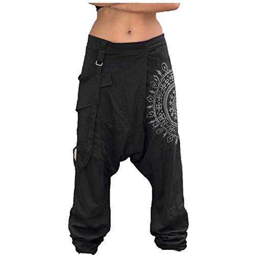 Harem PantalonesThai Comodos Anchos Tallas Grandes Pantalones Hippies Baggy Yoga Pants Playa Tailandeses Pantalones Cintura Alta Hombres de la Manera Ocasional Holgado Harem Pantalones para Hombres