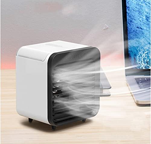 Mini - Ventilador De Aire Acondicionado Portátil Usb Blanco y negro