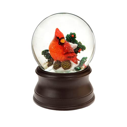 The San Francisco Music Box Company Hand Crafted Cardinal Snow Globe from