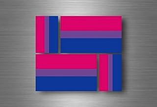 Akacha 4X Adesivi Adesivo Sticker Bandiera Vinyl Tuning LGBT Arcobaleno bisessuale