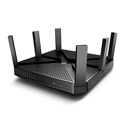 TP-Link Archer C4000 Tri-Band WLAN AC Router (2x 1625Mbit/s (5GHz) + 750Mbit/s (2,4GHz), 4 Gigabit LAN Ports, 1,8 GHz Quad-Core CPU, USB3.0, Print/Media/FTP Server, Beamforming, MU-MIMO) schwarz