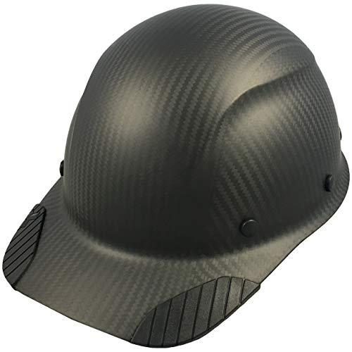 DAX Actual Carbon Fiber Cap Style Hard Hat - Matte Black