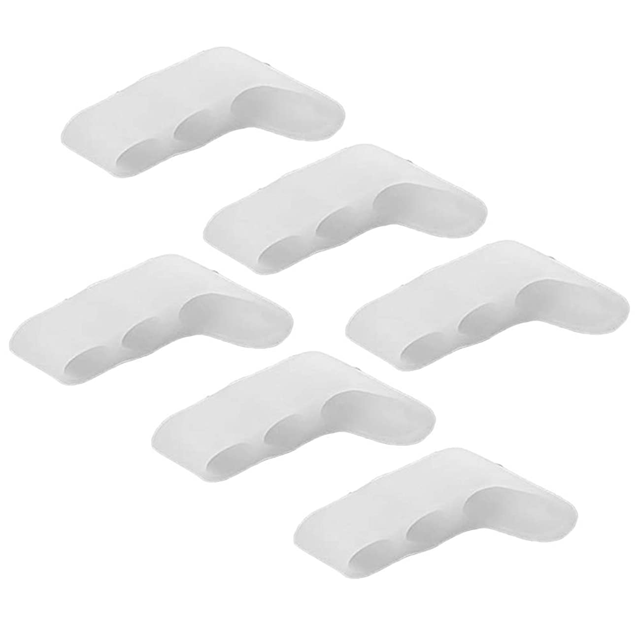 Healifty 足指姿勢補正 バニオンプロテクター 補正器 トゥセパレーター スプレッダー パッド 10本入(ホワイト)