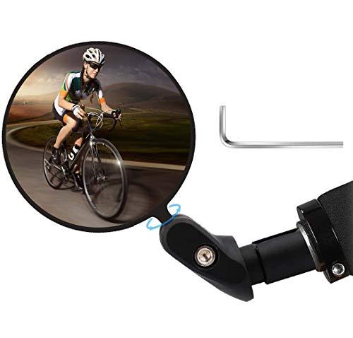 Fahrradrückspiegel, Fahrradspiegel Rückspiegel, verstellbar 360° Fahrradspiegel, HD Rückspiegel Fahrradspiegel, Weitwinkel Spiegel für 17.4-22mm Mountainbike Rennrad E-Bikes und andere Fahrräder
