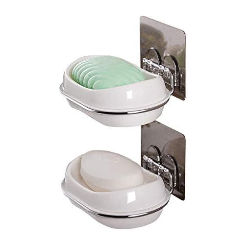 NYKK Accesorios para Cuarto de baño/Set de baño Ventosa Jabonera - Acero sostenedor de la Esponja for baño y Cocina Juego de Accesorios para baño