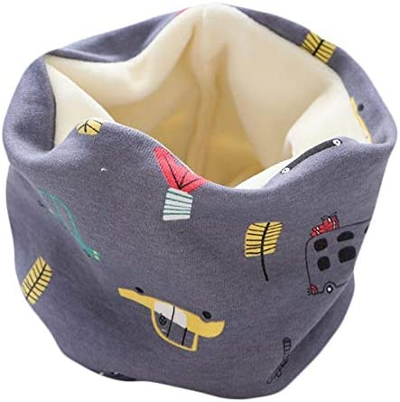 XIAOQIU Scarf Winter Baby Girls Scarf Cotton Boys Plush Scarf Autumn Kids Warm Scarves Neck Ring Collar Children Thick Neckerchief Shawl (Color : A9, Size : One Size)