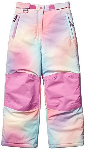Amazon Essentials Girls' Big Water-Resistant Snow Pant, Ombre Pink, Medium