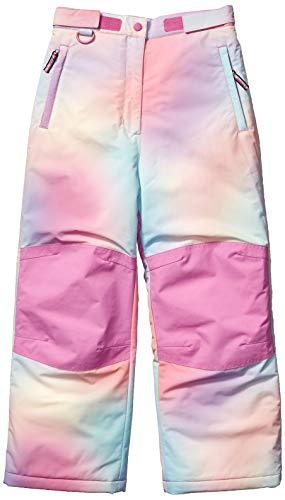 Amazon Essentials Girls' Big Water-Resistant Snow Pant, Ombre Pink, Medium