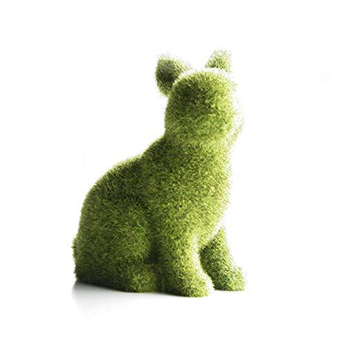 shizuku Kaninchen-Gartenzubehör, Osterhase, Kunstharz, beflockt, für Haus, Garten, Außenbereich, Fensterdekoration, Feengarten, Dekoration, Partyzubehör, Geschenke