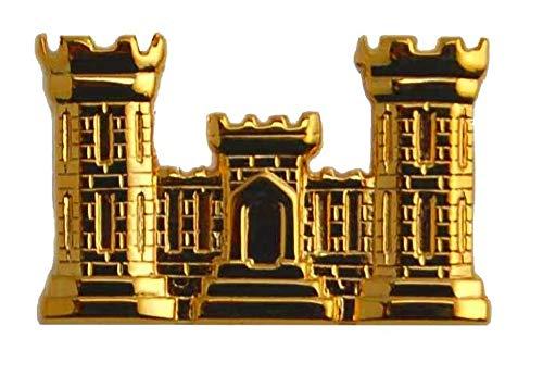 USMC Engineer Castle Military Veteran US Army Insignia Hat Pin