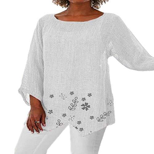 Frauen Sommer unregelmäßige Digitale Persönlichkeit drucken Rundhals atmungsaktiv Langarm Pullover Damen T-Shirt TopXX-Large